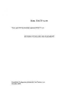 KTACT – Reglement